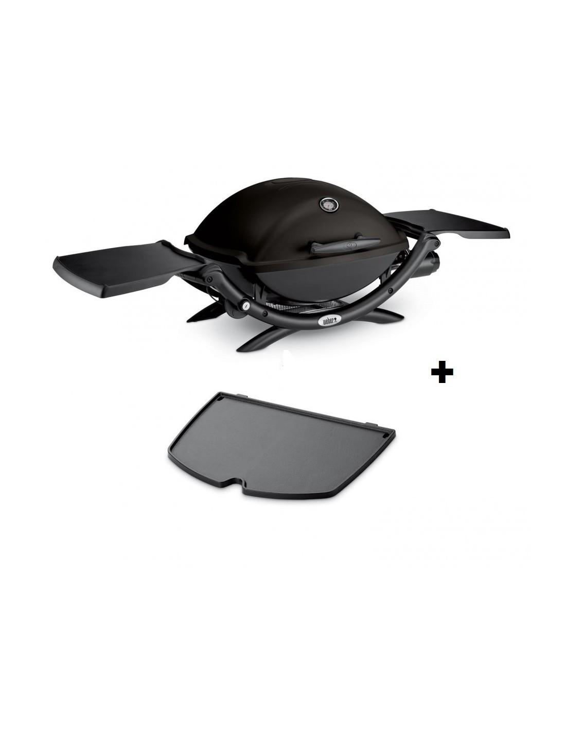 barbecue gaz q 2200 noir avec plancha 6559 weber