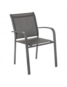 Fauteuil empilable Essentia Graphite anthracite