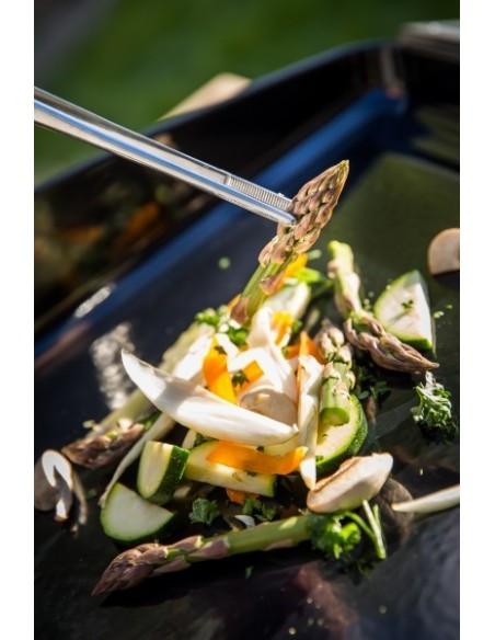 Pince fine  inox pour cuisiner avec précision sur plancha - Eno
