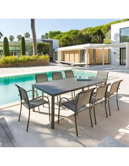 Table de jardin Piazza fixe rectangulaire Hespéride - Aluminium coloris au choix