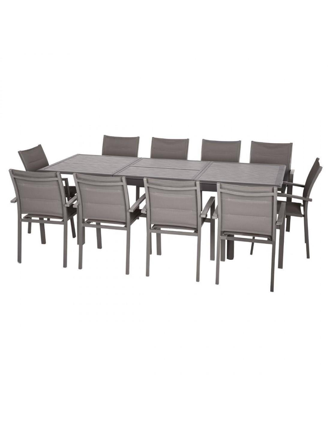 Table Extensible Azua Effet Aluminium Expresso Hespéride Tonka Bois 9EDI2WH