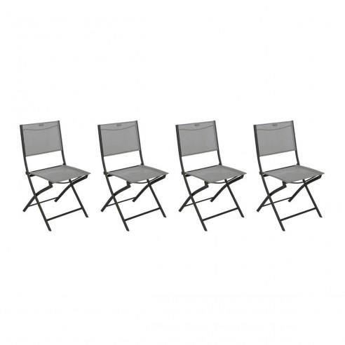 Chaise pliante Modula graphite Texaline au choix Hespéride