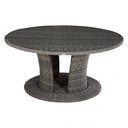 Table de jardin ronde Mooréa - 8 places - D.160 cm - Terre d\'ombre ou  Naturae