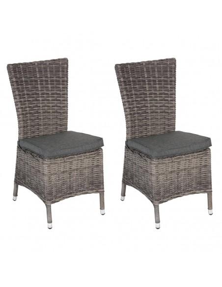 Chaise de jardin Mooréa - Résine terre d'ombre ou naturae