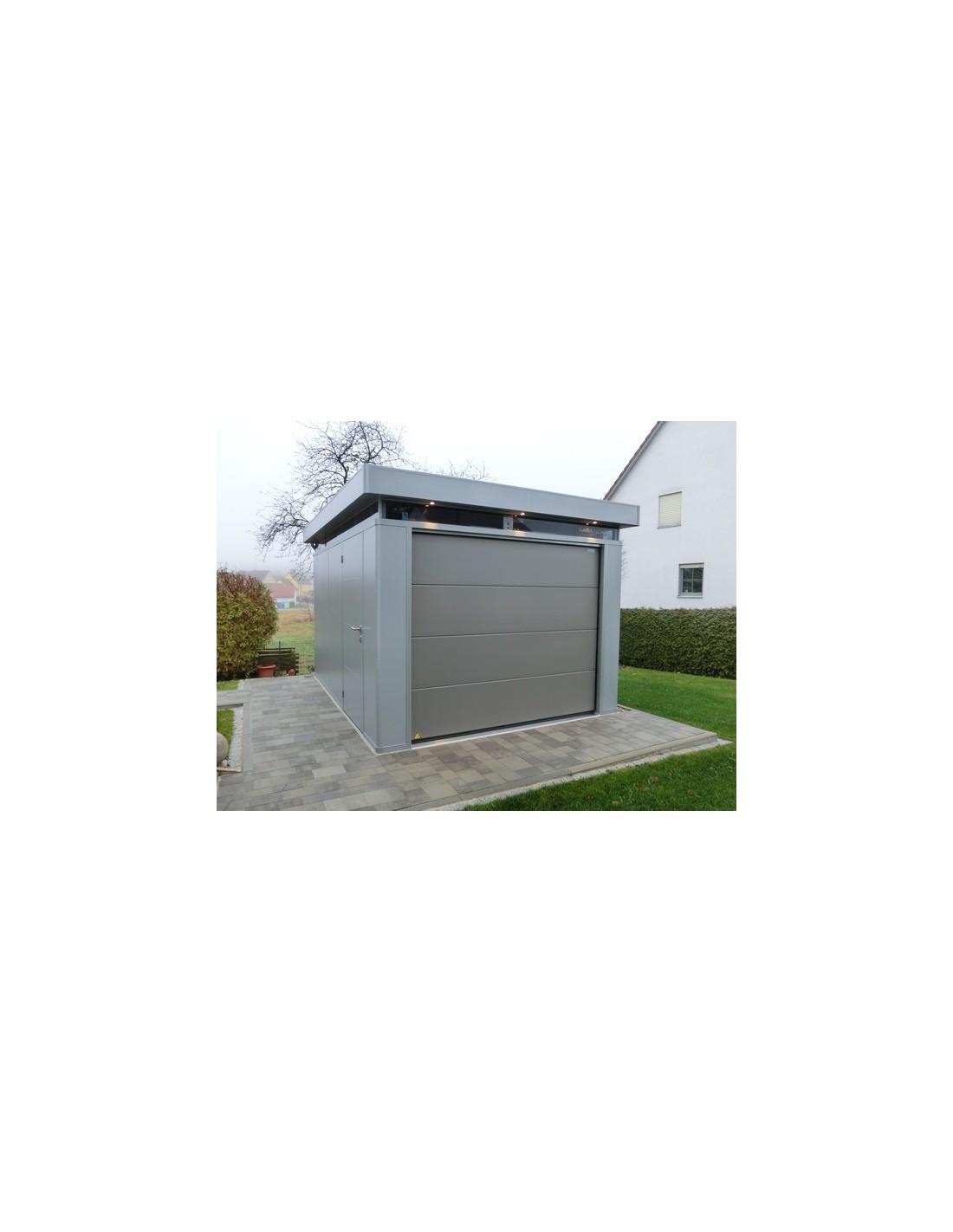 Porte sectionnelle pour abri de jardin ou garage casa nova for Porte pour abri de jardin en pvc