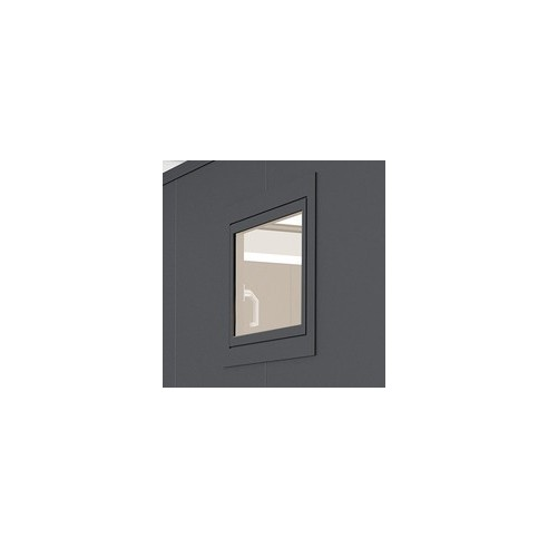Fenêtre en aluminium oscillo-battante verre isolant pour abri de jardin ou garage Casanova Biohort