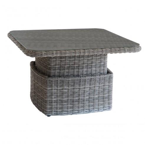 Table relevable Mooréa - Aluminium et résine tressée - Hespéride