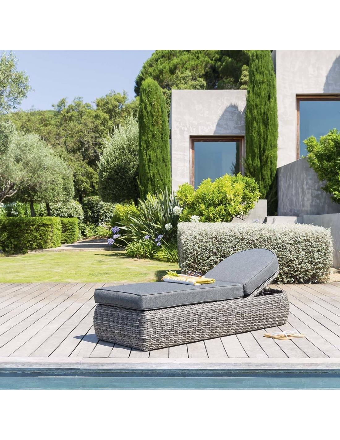 lit de piscine moor a aluminium et r sine tress e. Black Bedroom Furniture Sets. Home Design Ideas