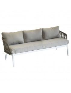 Canapé de jardin Barcelone 3 places - Aluminium et maille - Hespéride