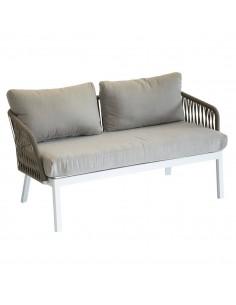 Canapé de jardin Barcelone 2 places - Aluminium et maille - Hespéride