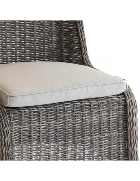 Chaise de jardin Bétong - Aluminium en résine tressée - Hespéride
