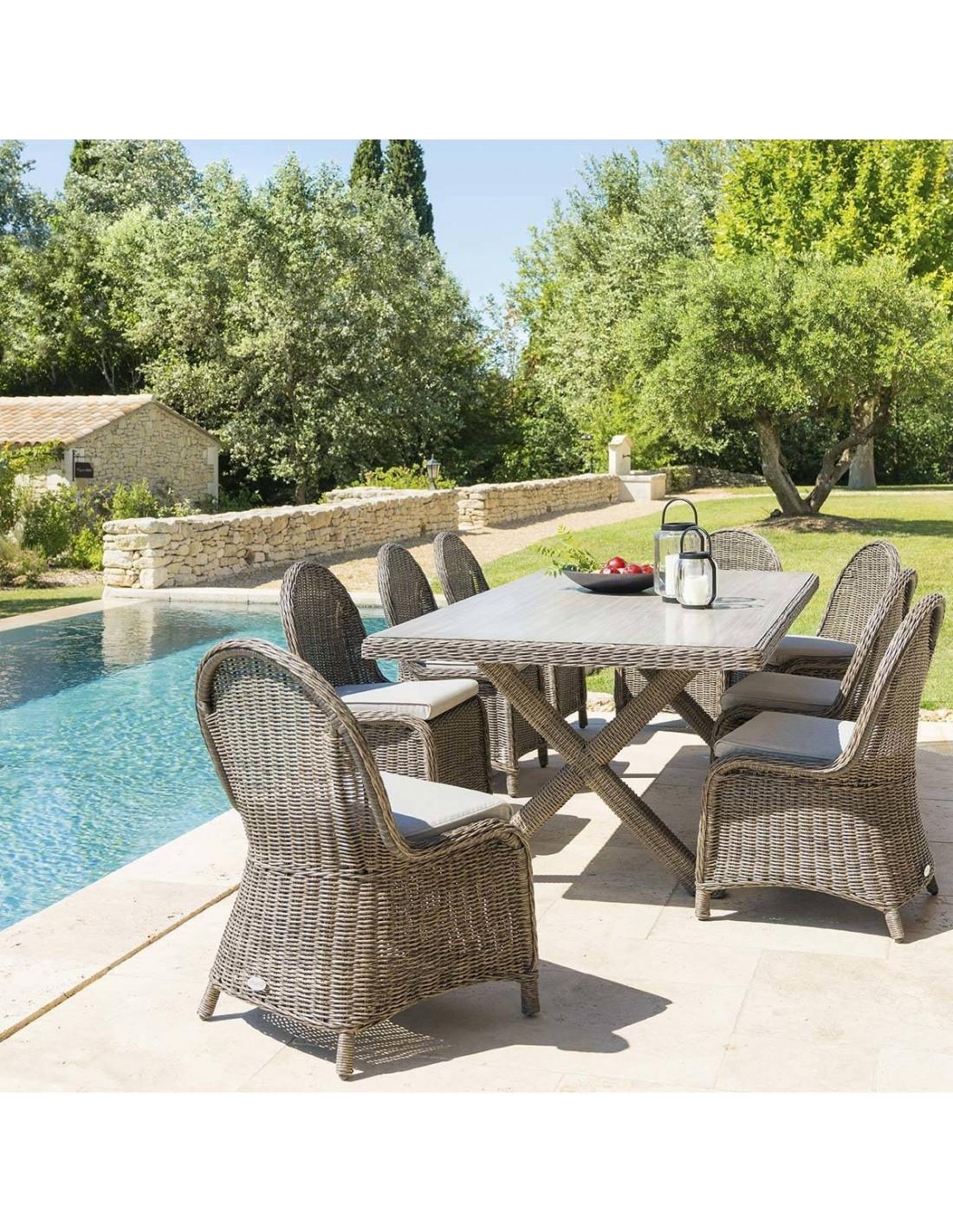 table de jardin betong 8 places r sine tress e hesp ride. Black Bedroom Furniture Sets. Home Design Ideas