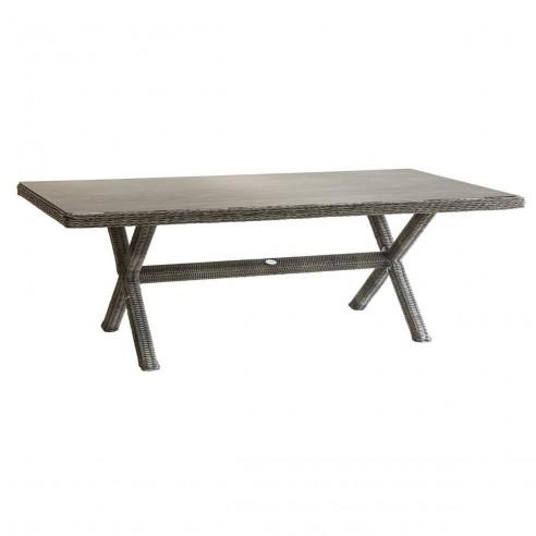 Table de jardin Betong - L.229 x P.108 cm - Résine tressée - Hespéride