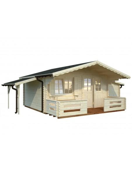 Abri de jardin Sally 16.2 m² avec plancher - Bois massif 44 mm