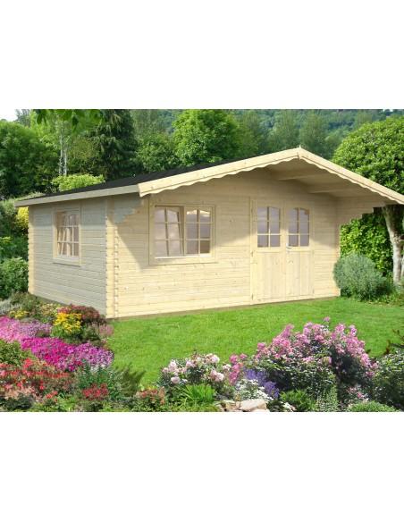 Abri de jardin Sally 19.9 m² avec plancher en bois massif 44 mm