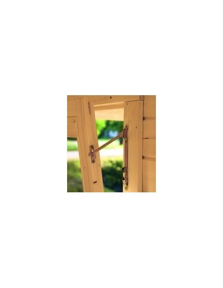 Abri de jardin Sally 19.9 m² avec plancher - Bois massif 44 mm