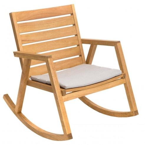 fauteuil bascule estiva rocking chair en eucalyptus. Black Bedroom Furniture Sets. Home Design Ideas