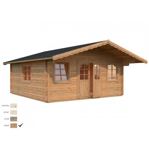 Abri de jardin Helena 26 m² avec plancher - Bois massif 70 mm