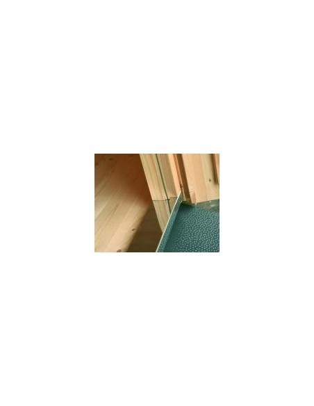 Abri de jardin Ines 14.4 m² avec plancher en bois massif 44 mm