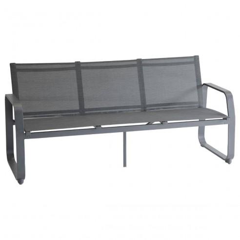 Canapé de Jardin Gili 3 places Aluminium et texaline - Hespéride