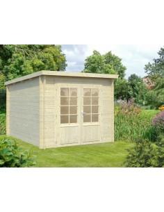 Abri de jardin Ella 7.2 m² - Bois massif 28 mm
