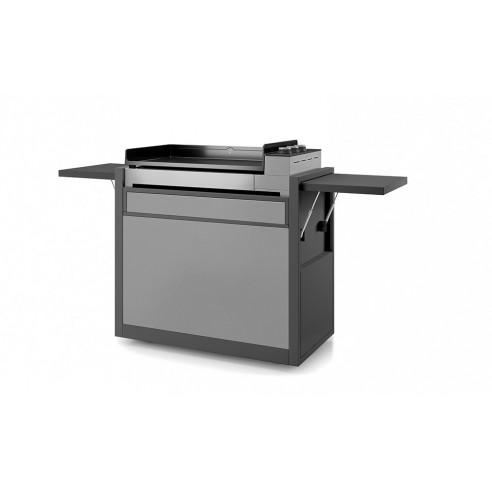 Chariot plancha Premium Acier fermé Noir et gris clair 60 - Forge Adour