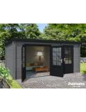 Abri de jardin Ella 13.5 m² - Bois massif 28 mm