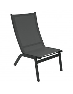 Chaise relax jardin Forro Hespéride - Aluminium anthracite ou noisette