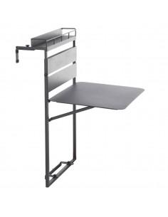 Tablette de balcon Fira repliable Hespéride - Aluminium époxy