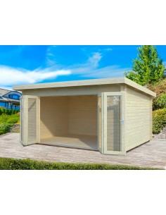 Abri de jardin Lea 14.8 m² - Bois massif 44 mm