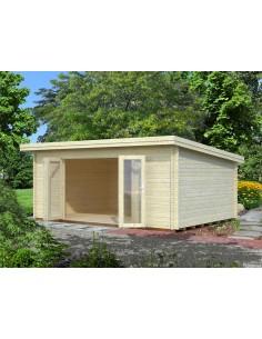 Abri de jardin Lea 19.4 m² - Bois massif 44 mm