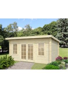 Abri de jardin Lisa 14.9 m² - Bois massif 44 mm