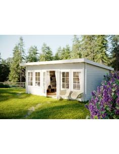 Abri de jardin Lisa 19.4 m² - Bois massif 44 mm