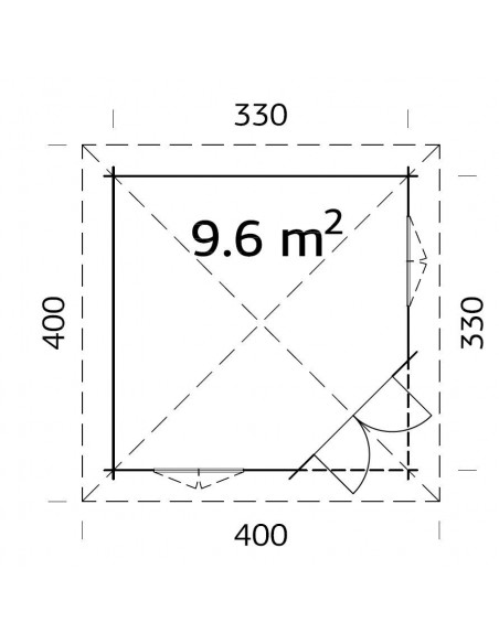 Tonnelle de jardin Mélanie 9.6 m² avec plancher en bois massif 44 mm