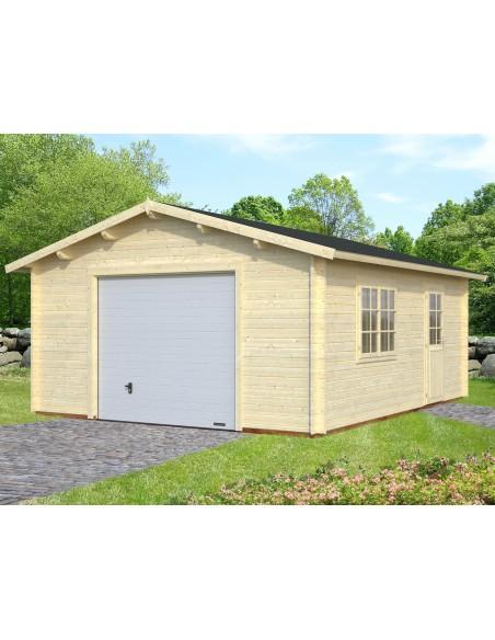 Garage Roger 25 m² au choix en bois massif  44 mm