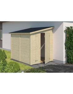 Abri bois Leif 3.1 m² avec plancher - Bois massif 16 mm
