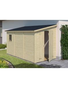 Abri bois Mia 5.5 m² avec plancher - Bois massif 16 mm
