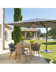 Parasol déporté Eléa L.3 x P.4 m - Toile polyester 250g/m² - Hespéride