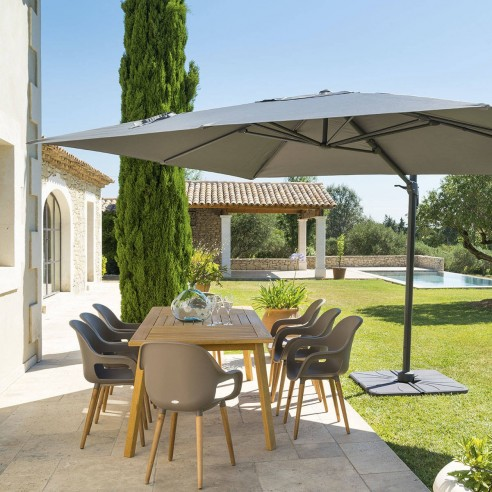 parasol d port el a l 3 x p 4 m toile polyester 250g m. Black Bedroom Furniture Sets. Home Design Ideas