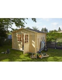 Abri de jardin BEX 3.2 m² - Bois massif 19 mm