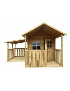 Maisonnette Blanka en bois traité avec plancher