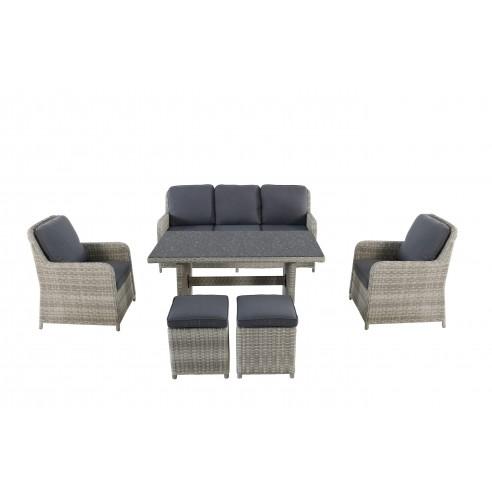 salon de jardin repas lodrino 7 personnes mwh. Black Bedroom Furniture Sets. Home Design Ideas