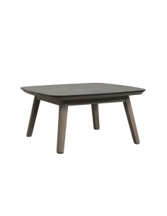 Table basse Copenhague 80x80 cm en durateck - Les jardins