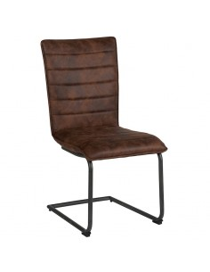 Chaise 100% polyester assise mousse Grise ou Havane - CASITA
