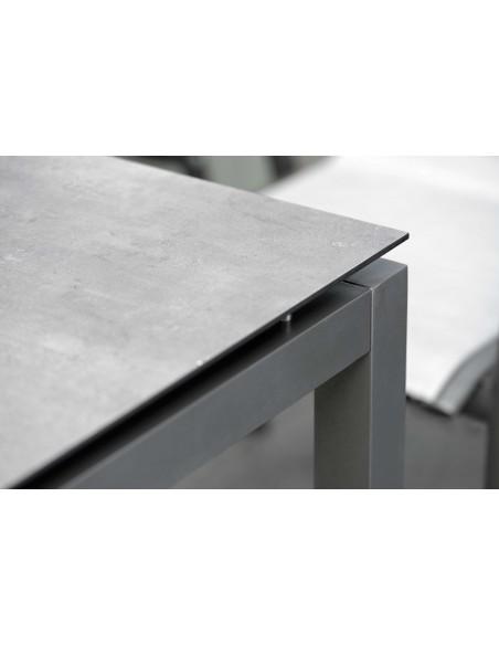 Table Stern 160 x 90 cm Aluminium Anthracite - Plateau HPL au choix