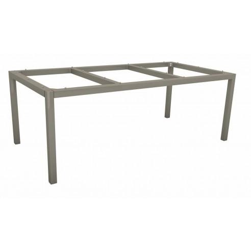 Table Stern 200 x 100 cm Graphite - Plateau HPL au choix