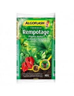 Terreau rempotage ALGOFLASH 40L plantes vertes et plantes fleuries
