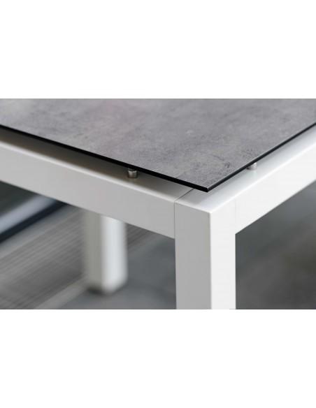 Structure de table 160 x 90 cm Aluminium Blanc - Stern