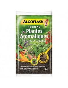 Terreau Plantes aromatiques, tomates et légumes 6L - Algoflash