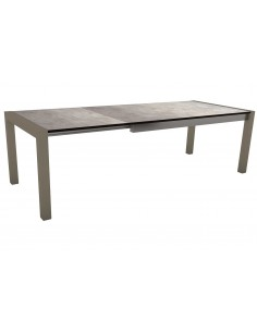 Table extensible Stern anthracite 174 (214/254) x 90cm plateau HPL